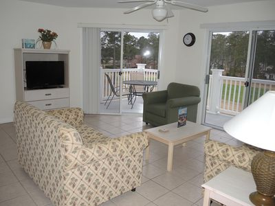 Photo for Family Friendly 2 bedroom, 2 bath, 27 Hole Golf Course, Nearby Beaches(2307)