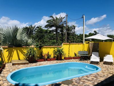 Photo for House on the beach with pool for 10 people, land of 8500m2 of Mata Atlantica