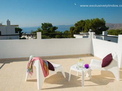 Photo for 3 Bedroom Luxury detached Villa with Private Pool & Seaviews, Free Wifi, Aircon