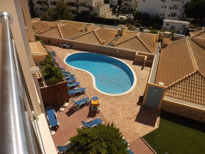 Photo for Apartment with sea view, swimming pool 400m from the beach Olhos de Agua, Albufeira