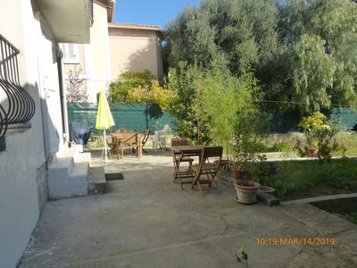 Photo for House, Garden level, with terrace, garden, near the city center.