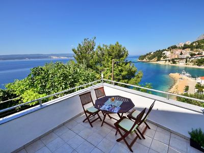 Photo for Newly refurbished apartment with huge terrace and wonderful sea view