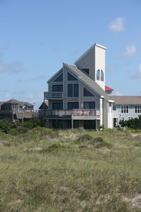 View of the house from the ocean