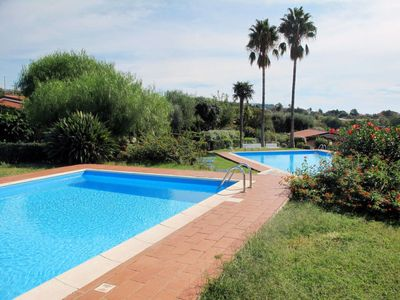 Photo for 2 bedroom Villa, sleeps 6 with Pool, Air Con and Walk to Beach & Shops