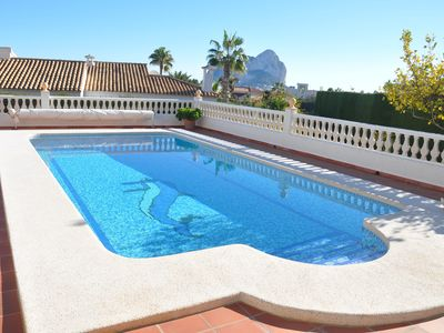 Photo for GORGEOUS LOCATED VILLA WITH A VIEW OF THE PEÑON