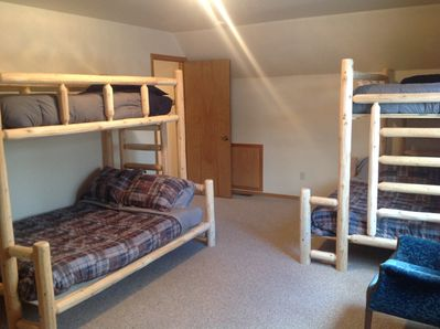 upstairs bedroom #1 - two twin over full bunks