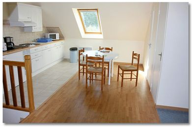 Photo for like home, spacious, 40m2, bright, quiet, garden, barbecue, private parking.