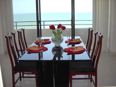 The dining area with fabulous ocean views