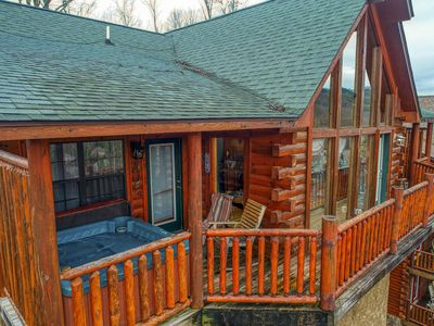 Photo for Luxury cabin near Dollywood Indoor Pool Access BOOK Today