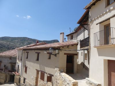 Photo for Renovated village house with views in Aragon