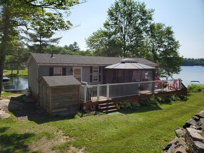 Photo for 3 bedroom waterfront cottage right on a quiet bay on the Trent Severn River.