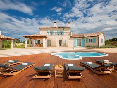 Photo for stunning villa with private salt water pool in the mediaval town of Bale