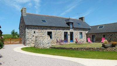 Photo for Cottage 12 or 14 seats group (2 ch RMCs in stone farmhouse with garden)