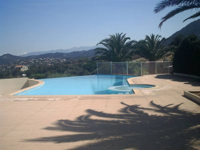 Photo for comfortable apartment in a residence with swimming pool