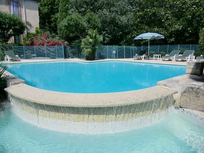 Photo for Dom St Pierre du Rebaut - House-park-exceptional pool landscaped near beaches