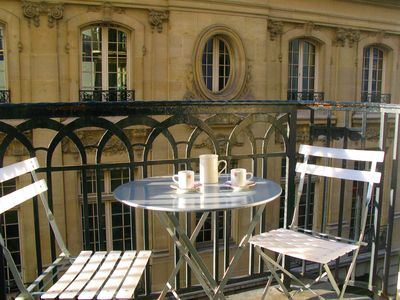 Photo for LOUVRE, Madeleine, SEINE RIVER - Balcony - AC - In a former grand hotel - Metro