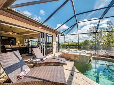 Photo for Hideaway with a private heated pool and spa,bikes- Villa Aquaventura - Cape Coral