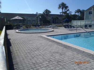Large pool with baby pool!