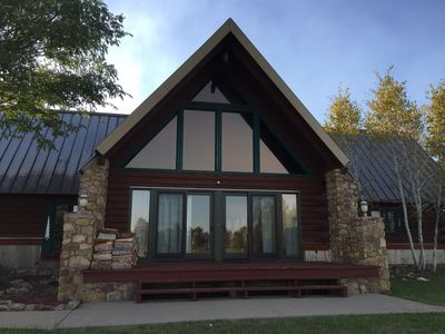Photo for Beautiful Lakefront Log Home on the Golf Course in the Rocky Mountains