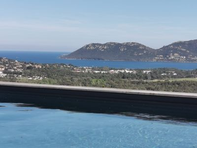 Photo for Architect's villa with panoramic views of the Gulf of Porto Vecchio