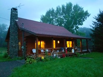 Photo for Log Home in the Catskills Mts. Great Family Getaway. Beautiful, quiet setting