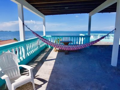 Photo for See Belize SEA VIEW WATERSIDE Escape with SWIMMING POOL, OVERWATER DECK, and ROOF TERRACE