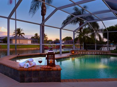 Photo for Cape Coral Waterfront Serenity - Waterfront, pool & large dock for relaxation