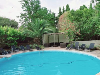Photo for Charming country stone Provencal farmhouse with private pool