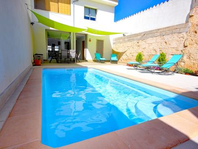 Photo for Townhouse (Foners mallorquins) in Muro Mallorca with pool 004