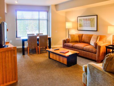 Photo for Relaxed luxury condo in Mammoth's only five-star hotel, steps from Village amenities -- sleeps