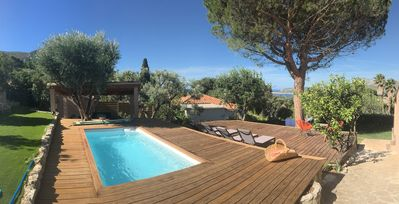 Photo for LUXURY VILLA, facing the sea, the creeks and Cassis. Heated pool.
