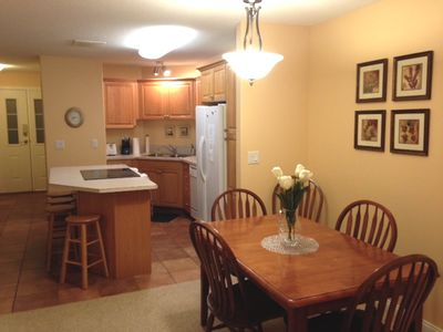 Dining room and kitchen - open concept