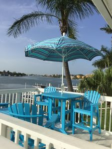 Photo for Waterfront Views of Boca Ciega Bay from your Private Balcony. Dolphins & Sunset!