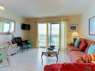 Photo for NEW LISTING! Gulf-front condo w/balcony, beach access & shared hot tub/pools