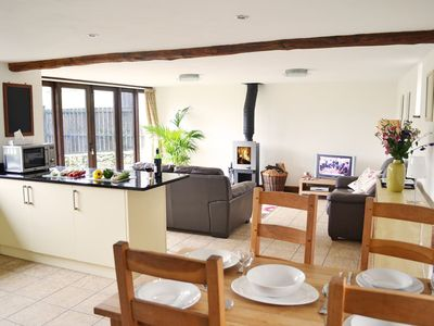 Photo for From £22 pppn. A beautiful conversion of a 400-year-old threshing barn. Pet-friendly.