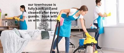 Fully sanitized and cleaned after every guests.  Book with confidence.