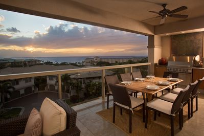Look forward to the spectacular sunsets each night from this top row home!