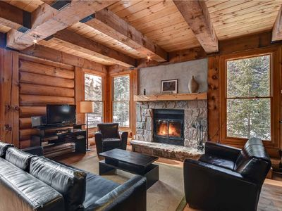 Photo for Log Wood Cottage with JACUZZI in Mont Tremblant area- Ski-Lake access