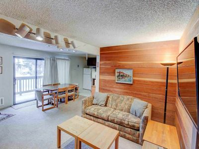 Photo for Located on shuttle route, quaint condo- Balcony/WiFi/Complex Hot Tub