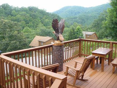 Photo for Log Cabin Close To Dollywood W/ View & Free Wi-Fi!