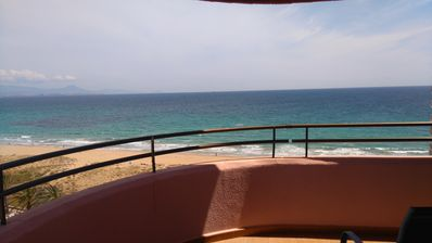 Photo for First line beach, sea views, pool, wifi, 20mts. of the beach