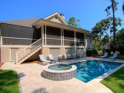1 Cartgate - Luxury Home in Palmetto Dunes w/ Private Pool & Spa, Walk to Beach