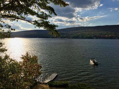 Photo for LUXURY LAKEFRONT COUPLE'S RETREAT ON GREENWOOD LAKE 1 HOUR FROM NYC