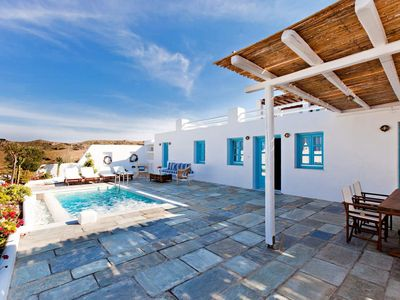 Photo for BlueVillas | Villa Skiron | Private plunge pool close to Vourvoulos beach