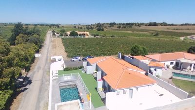 Photo for 4 apartments in villa in the quiet countryside with pool, near sea