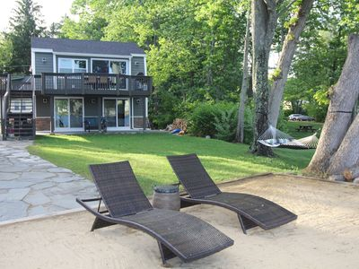 Photo for Stunning Lake Winnisquam Waterfront House with Dock