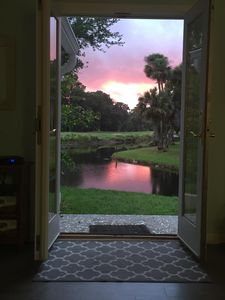 Photo for Spacious 3BR/3BA Villa with very private lagoon and golf views
