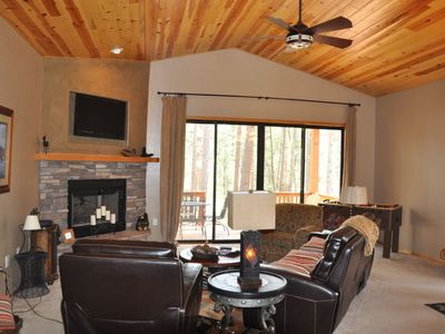 Photo for Torreon Cabin, Sleeps 4 adults and 4 kids, Free Wi-Fi. * Backs to the forest!