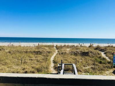 Photo for OCEAN FRONT CONDO PERFECT FOR SMALL FAMILY OR A COUPLES GETAWAY