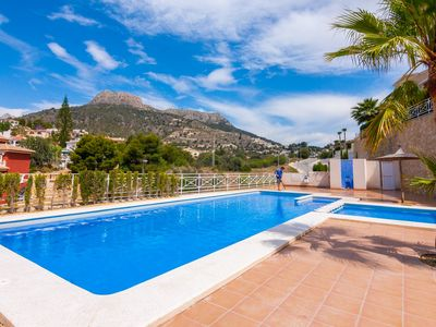 Photo for GRINEV, bungalow in the hills of Calp, for 6 guests